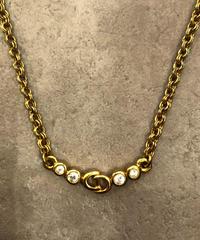 """Christian Dior/vintage """"CD"""" logo necklace.(心斎橋)"""