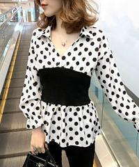 Polkadot Waistmark blouse