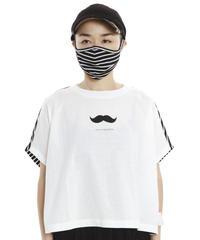 【UVカットのフレンチスリーブカットソー〜マスク付き〜】