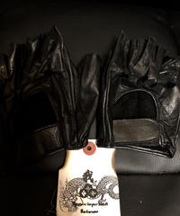 80-90,s パキスタン製Motorcycle Driving Half-finger Leather GLOVE