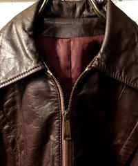 70,s U.S.A.製 single Leather Jacket レディース36ヴィンテージ美品