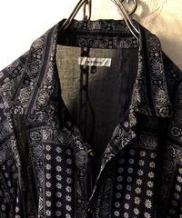 エスニックガーゼシャツ NAVY48美品