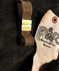 ハイブランドアンティークGUCCI MADE IN ITALY 草摺り編みBRACELET
