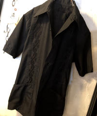 〈目玉〉オールドCUBA SHIRT Rock'n Roll 2ッポケットモデルBLACK 黄金サイズ美品