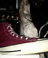 90,s  vintage U.S.A. ALL STAR BURGANDY CANVAS Hi オールドモデル極上美品