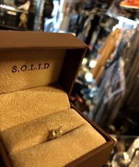 S.O.L.I.D スモールDIAMOND スタッドピアスBOX付美品