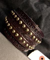 東京S.O.S.STORE 90,sセレクト ITALY製S.I.C. Studs Leather Bracelet 未使用BOX付美品