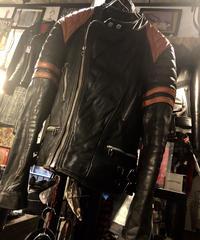 《超目玉》70,s極上シボ革MOTORCYCLE JACKET黄金サイズ希少ロックンロールヴィンテージスペシャルプライス