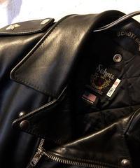 〈目玉ブラックカラー黄金サイズ36タイトフィット〉Schott 613UST ONE STAR RIDERS TALL美品