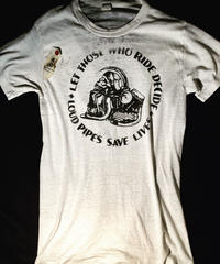 80,s MADE IN U.S.A. モーターサイクル髑髏 ヴィンテージ目玉ROCK Tee美品