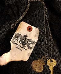 1940,s vintage U.S.A. IRON Walletchain カスタマイズパーツシリーズ❹ ★50,s vintage U.S.A. Dogtag & Key NECKLACE