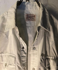 60,s Rockmount 希少DAN RIVERピンストライプ Rock'n Roll Western Shirt ヴィンテージ美品