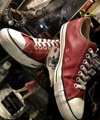 90,s vintage U.S.A. ALL STAR BURGUNDY LEATHER LOWヴィンテージ美品