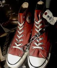 目玉80,s vintage U.S.A. ALL STAR 人気CANVAS RED Hi オールドモデル美品