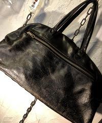 イングランド製 Jas-M.B.クラック加工Leather BOSTON Bag美品