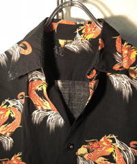 90,s used ブラックベースマテリアル赤龍ALOHA Shirt