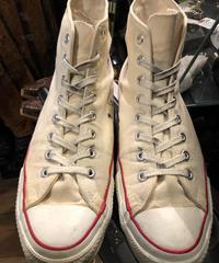 90,s vintage U.S.A. ALL STAR NATURAL CANVAS HI オールドモデル11スペシャルプライス