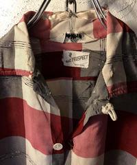 60,s vintage U.S.A. Psychobilly  check shirt 目玉ロックンロール古着アイテム
