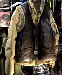 絶版モデル80-90,s U.S.A.製 Schott PROTECT LEATHER VEST DOWN-JACKETスペシャルプライス