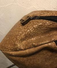 イングランド製 Jas-M.B. クラック加工Leather BOSTON Bag CAMEL