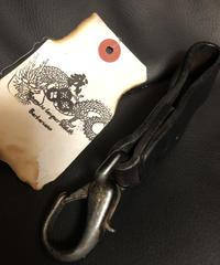 1940,s vintage U.S.A. IRON Walletchain カスタマイズパーツシリーズ28 ★SWDヴィンテージレザーKeyloop漆黒仕様❶