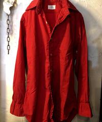 〈目玉〉70,s初期 U.S.A.製 GANT ヴィンテージレッドRock' Roll Shirt
