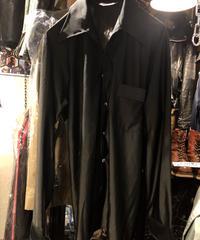 〈目玉〉70,s U.S.A.製 VAN HEUSEN オープンカラーRock'n RollストレッチShirt BLACK 黄金サイズヴィンテージ美品