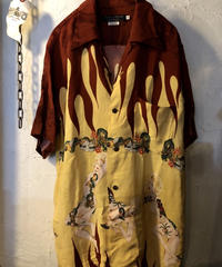 〈目玉〉オールドモデル ALLEN & HANSEN DRAGON & NUDEGIRL Hawaiian Shirt美品