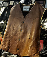 70,s MADE IN U.S.A. LEATHER Vest ヴィンテージ美品