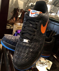 14,s NIKE AIR FORCE 1 monogram BLACK ユーズド美品