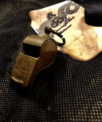 1940,s vintage U.S.A. IRON Walletchain カスタマイズパーツシリーズ❼ 希少1940,s U.S.Military vintage BRASS WHISTLE