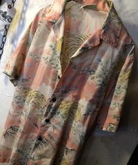 〈目玉〉90年代 Rock'n RollマットPINK 虎柄Hawaiian Shirt