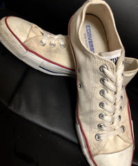 90,s vintage U.S.A. ALL STAR CANVAS NATURAL LOW美品