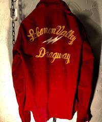 フィフティーズU.S.A. Dragway刺繍 TALONジッパー ヴィンテージRock'n Roll DRIZZLER美品