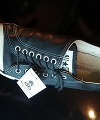 90,s vintage U.S.A. サイドレースレアモデルALL STAR LEATHER LOW オールド美品