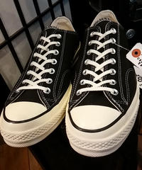 U.S.PRODUCT Chuck Taylor70,s CANVAS BLACK LOW極上未使用品