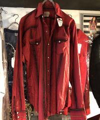 """超目玉!60,s U.S.A. vintage LEVI'S ショートホーンタグ 激レア """"ダイス型ヴィンテージスナップボタン"""" Rock'n Roll Western Shirt 極上美品"""