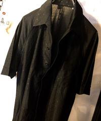 〈目玉〉70,s U.S.A.製 Rock'n Roll BLACK DOTS POLYESTER SHIRTヴィンテージ美品