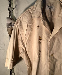 Dunhill 60,sヴィンテージITALY製 希少オールドモデル刺繍コットンシャツ