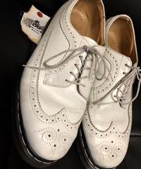 〈目玉〉イングランド製80,s Dr.Martens Rock'n Rollホワイトカラー Wing tip SHOEヴィンテージ極上美品スペシャルプライス