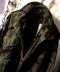 人気XSサイズ後染めカスタマイズ 3rd model M-65 FIELD JACKET 80,s CAMOUFLAGE目玉アイテム