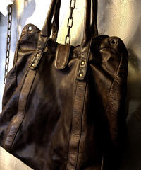 MADE IN ITALY Stefano Affede 極上エイジングCOWLEATHER TOTE BAGスペシャルプライス