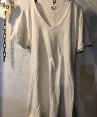 〈目玉〉U.S.A.製70,s FRUIT OF THE LOOM NATURAL V-NECKヴィンテージTee