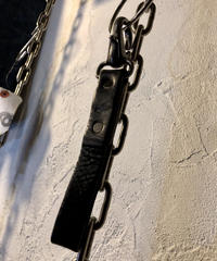 1940,s vintage U.S.A. IRON Walletchain カスタマイズパーツシリーズ36 ★SWDヴィンテージレザーKeyloop漆黒仕様❽