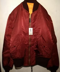 ALPHA社 vintage U.S.A. 90,s MA-1 FLIGHT JACKET レアBordeauxヴィンテージ美品