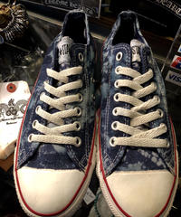 90,s vintage U.S.A. ALL STAR Sea-BLUE CANVAS Low オールドモデル極上美品