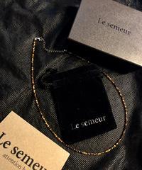 Le semeur 天然石タイガーアイNECKLACE BOX付極上美品