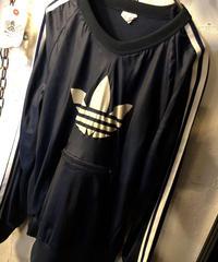 〈目玉〉vintage 70,s adidas カンガルージッパーポケットTRUCK PULLOVER黄金サイズ希少ヴィンテージ美品スペシャルプライス