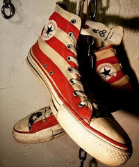 90,s vintage U.S.A. ALL STAR ロックンロール the Stars and Stripes CANVAS Hi オールドモデル美品