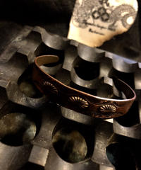 60-70,s ナバホ族 銅製Cuff BRACELETヴィンテージ美品目玉アイテム